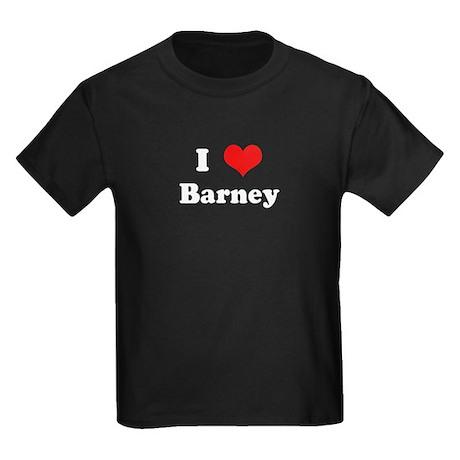 I Love Barney Kids Dark T-Shirt