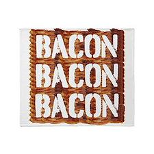 Bacon Bacon Bacon Throw Blanket