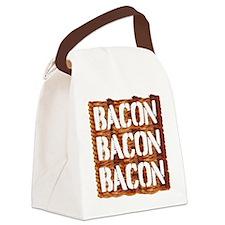 Bacon Bacon Bacon Canvas Lunch Bag