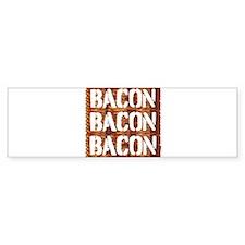 Bacon Bacon Bacon Bumper Car Sticker