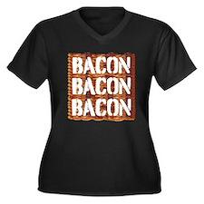 Bacon Bacon Bacon Plus Size T-Shirt