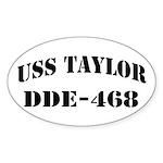 USS TAYLOR Sticker (Oval)