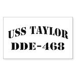 USS TAYLOR Sticker (Rectangle)