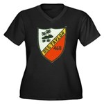 USS TAYLOR Women's Plus Size V-Neck Dark T-Shirt