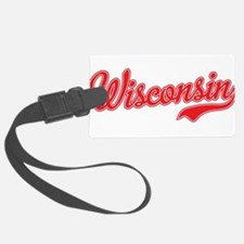 Wisconsin Script Font Luggage Tag