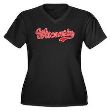 Wisconsin Script Font Plus Size T-Shirt