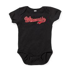 Wisconsin Script Font Baby Bodysuit