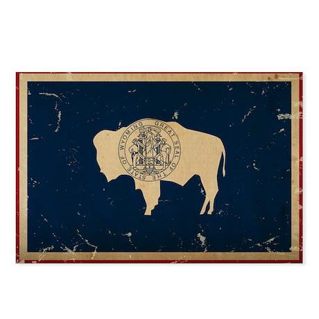 Wyoming Flag VINTAGE Postcards (Package of 8)