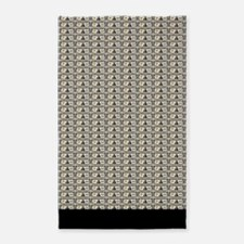 100,000 dollar notes 3'x5' Area Rug