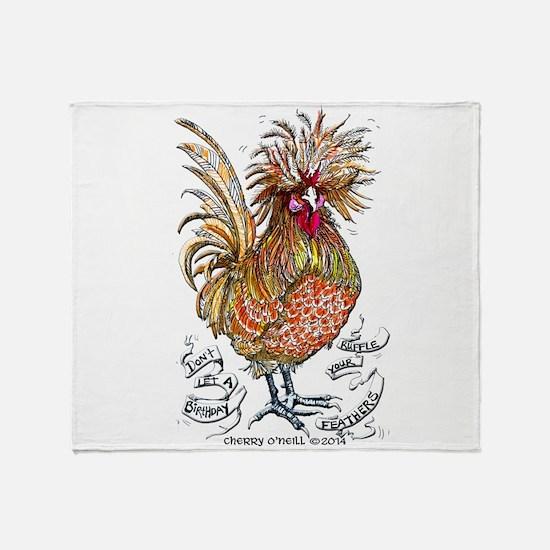 Chicken Feathers Throw Blanket