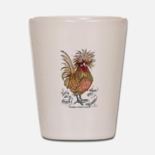 Chicken Feathers Shot Glass