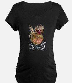 Chicken Feathers Maternity T-Shirt