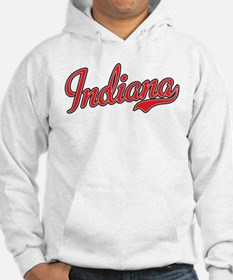 Indiana Script Font Red Hoodie