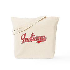 Indiana Script Font Red Tote Bag