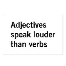 adjectives speak louder than words Postcards (Pack