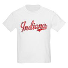Indiana Script Font Red T-Shirt