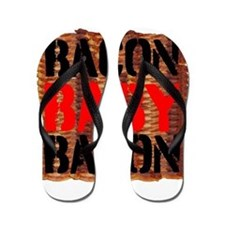 Bacon Baby Bacon Flip Flops