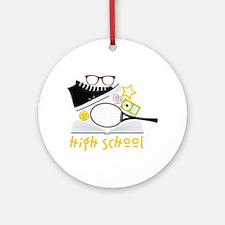High School Ornament (Round)