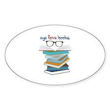 Eye Love Books Decal