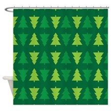 Christmas Tree Holiday Shower Curtain