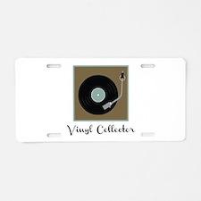 Vinyl Collector Aluminum License Plate