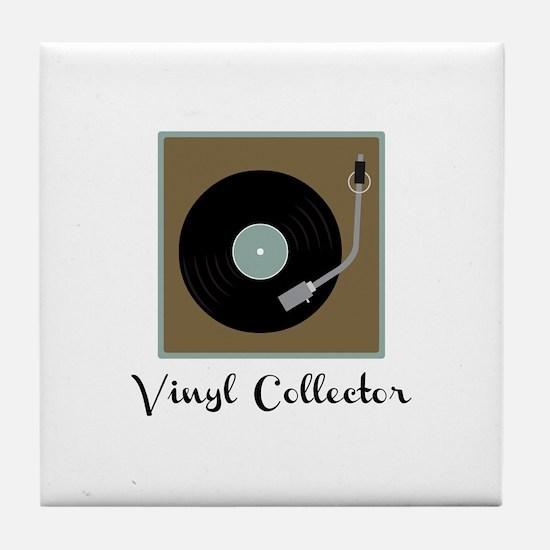 Vinyl Collector Tile Coaster