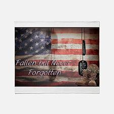 Fallen but never forgotten Throw Blanket