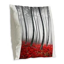 Funny Trees Burlap Throw Pillow