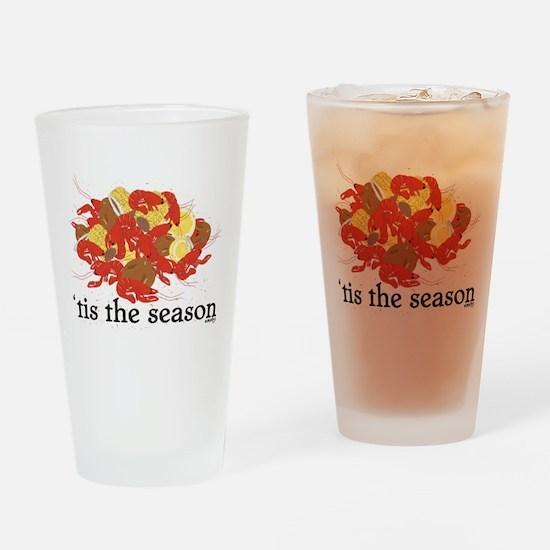 Nola Crawfish Season Drinking Glass