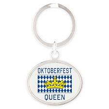 OKTOBERFEST Queen Oval Keychain