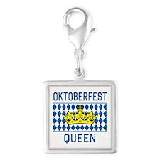 OKTOBERFEST Queen Silver Square Charm