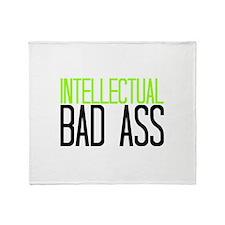 INTELLECTUAL BAD ASS Throw Blanket