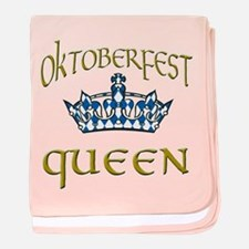 Oktoberfest Queen Crown baby blanket