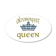 Oktoberfest Queen Crown Wall Decal