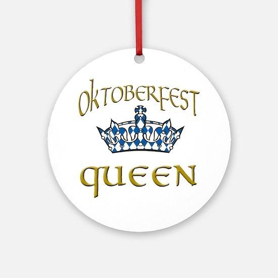 Oktoberfest Queen Crown Ornament (Round)