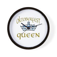 Oktoberfest Queen Crown Wall Clock