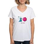 Germ Warfare Women's V-Neck T-Shirt