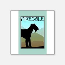 "Unique Airedale terrier Square Sticker 3"" x 3"""
