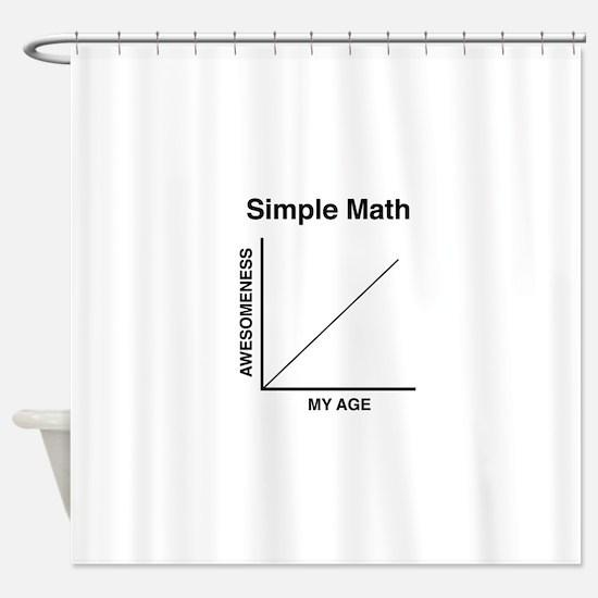 Simple Math Shower Curtain
