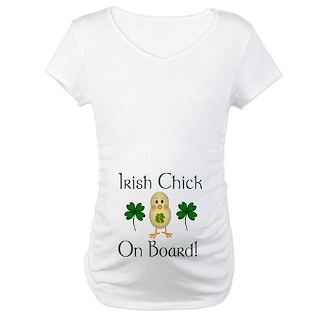 Irish Chick On Board Maternity T-Shirt