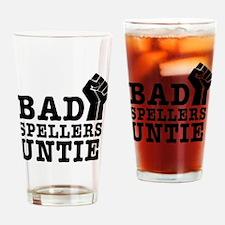 bad spellers untie Drinking Glass