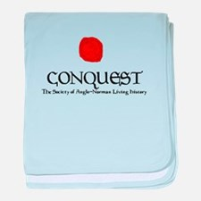 Conquest Logo and Seal Large baby blanket