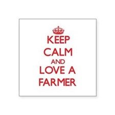 Keep Calm and Love a Farmer Sticker