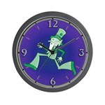 Funky Leprechaun Wall Clock