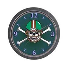 Football Skull Wall Clock
