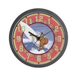 Surf Flower Wall Clock