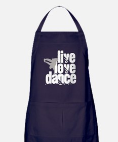 Live, Love, Dance Apron (dark)