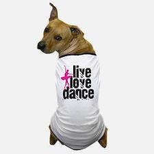 Live, Love, Dance with Ballerina Dog T-Shirt