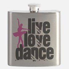 Live, Love, Dance with Ballerina Flask