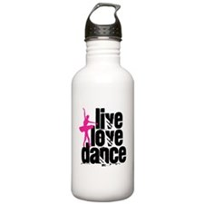 Live, Love, Dance with Ballerina Water Bottle